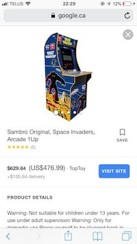 SPACE INVADERS ARCADE CABINET!