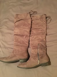 Brown over the knee boots size 6 1/2