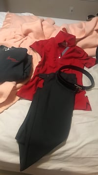 Chic fil a employee uniform small with belt and sweater  Johns Creek, 30022