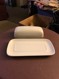 White butter dish  2341 mi