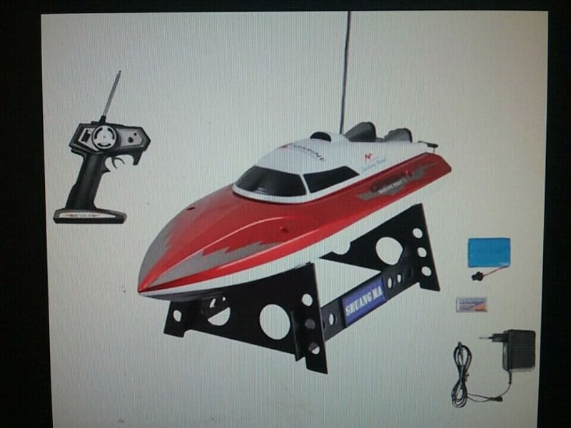 Shuang ma 7009 rc speed boat w/remote fast tested 09cb468c-7c81-4e24-afcf-af2a72a1a36d