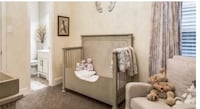 Baby Crib Restoration Hardware. Beautiful crib with the original grid front as well as the extension piece seen on Picture. Also includes the mattress. Paid over $2,500 new and asking $800 obo Irving, 75039