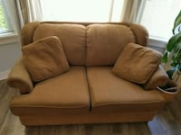 brown fabric 2-seat sofa Vancouver, V6M 1Z1