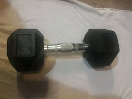 20lb cast iron coated hex dumbbell