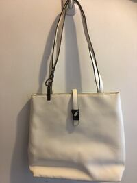 women's white leather tote bag