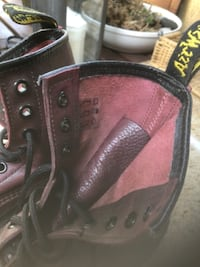 pair of red leather high-top sneakers CANOGAPARK