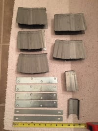 """135 Fence brackets 2"""" x 4"""" + 6 plates - $10 each package or $50 for everything Mississauga"""