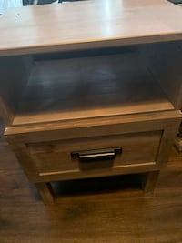 brown wooden 2-drawer chest Calgary, T3E
