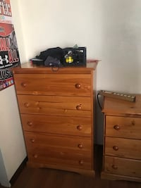 Kids bedroom set $300. Full size Bed with trundle that can hold a twin size mattress or used as a drawer for storage, dresser and tall chest of drawers. Miami Beach, 33140