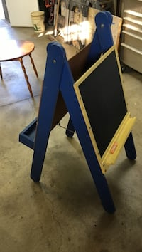 blue and yellow wooden easel Yorba Linda, 92887