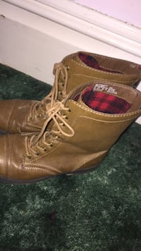 pair of brown leather boots Tipton, 49287