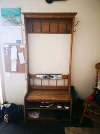 Coat and shoe bench