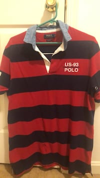 black and red stripe polo shirt Waldorf, 20602