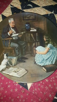 Norman Rockwell The Story Teller plate 541 km