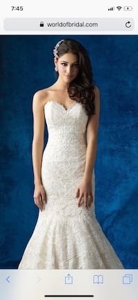 Wedding dress/size4/Allure bridal haute couture/with veil available