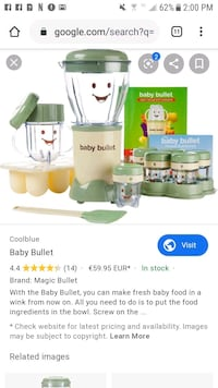baby bullet baby food maker Omaha, 68122