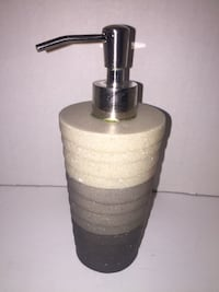 Sand Grey Charcoal Gradient Hand Soap Pump for Bathroom Toronto, M5G