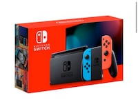 NEW Nintendo Switch 32GB Console with Neon Red and Neon Blue Joy-Con
