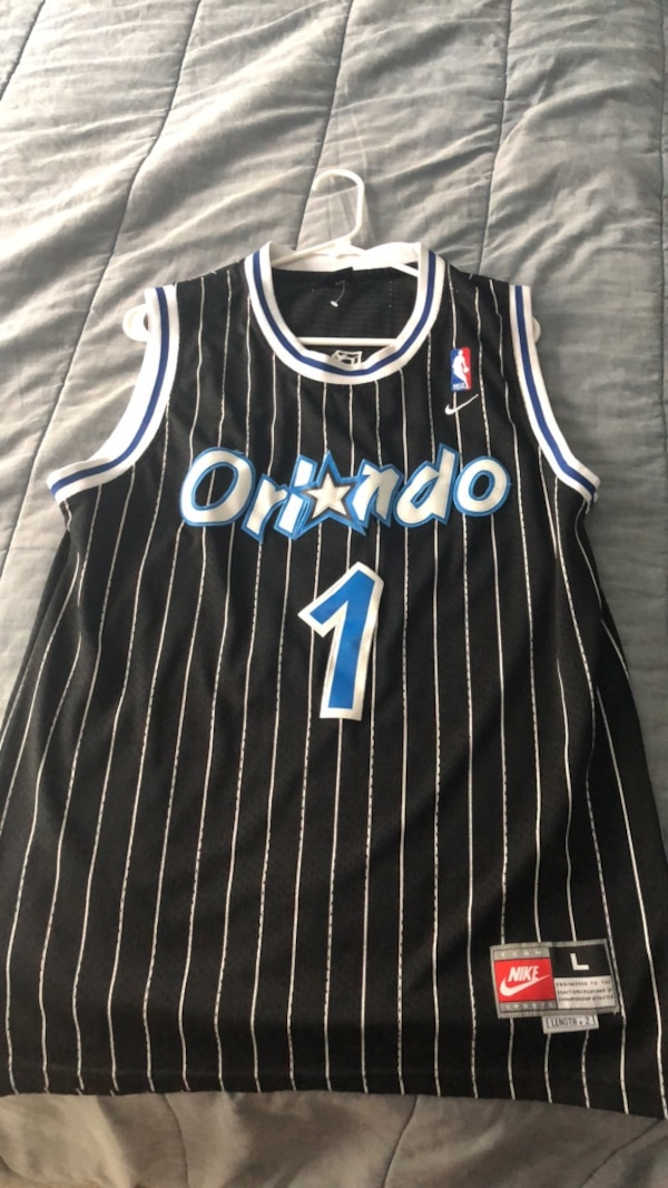 premium selection 6ad65 cf5cc black and white Orlando Magic jersey