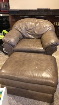 Brown leather sofa chair with ottoman Germantown, 20876