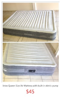 Intex Queen Size Air Mattress with built in electric pump 多伦多