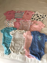 12 onesies baby girl clothes  Lovettsville, 20180