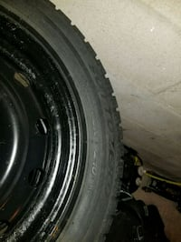 black bullet hole vehicle wheel and tire 536 km