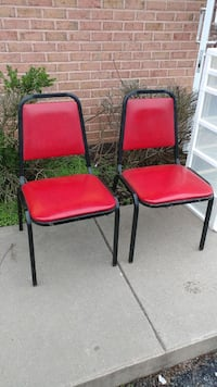2 Red vinyl padded chairs Forest Hill, 21050
