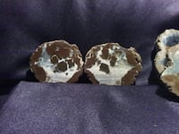 pair of brown-and-white awesome stone agate geodes Lake Elsinore, 92530