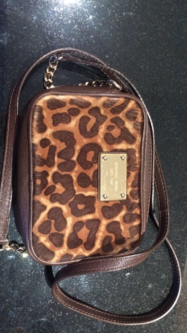 77144bf7f07a Used Michael kors leopard cross-body bag for sale in Coquitlam - letgo