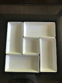 5 piece porcelain dish set with serving tray Kelowna