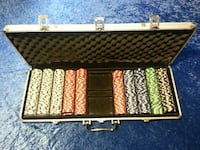 assorted poker chips set