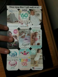 Unused Baby Gift Cards