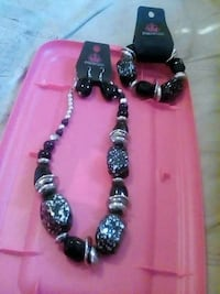 black-and-grey beaded necklace and bracelet Connelly Springs, 28612