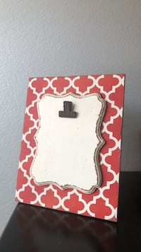 white and red floral print photo frame Menifee, 92584