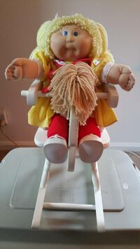 Cabbage Patch Doll & Wooden Rocking Horse Combo (V Spackenkill