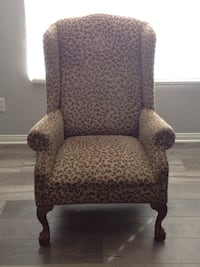 Leopard print cushion chair