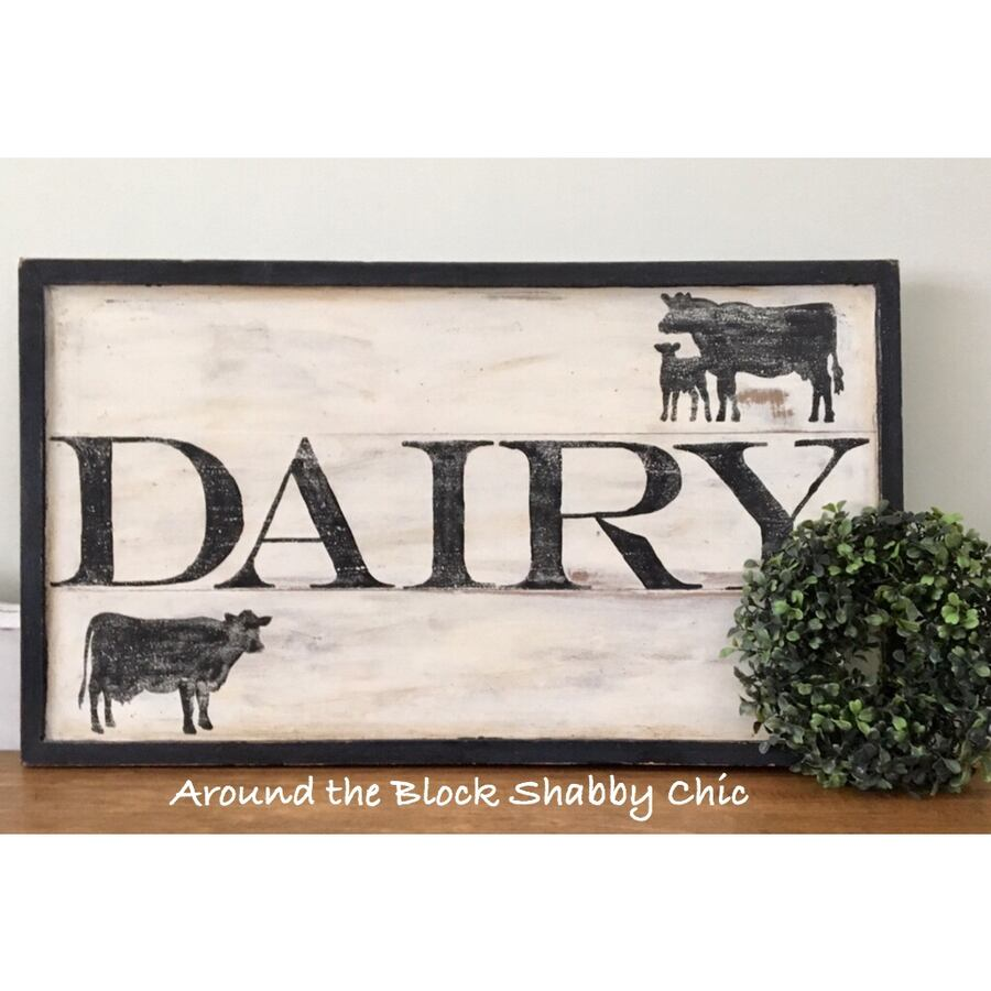 Hand painted farmhouse sign