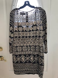 White and black tribal print 3'4 dress Perryville, 21903