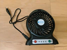 Battery powered fan with 18650 battery