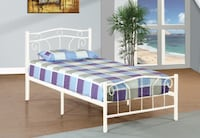 BRAND NEW METAL BED FRAME WITH SPRING MATTRESS & FREE DELIVERY TORONTO