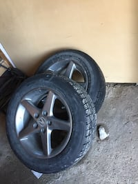"Acura / honda.. civic , rsx , 5x114.3 +35 16"" rims . with 225 55 r16 winter tires 50%"
