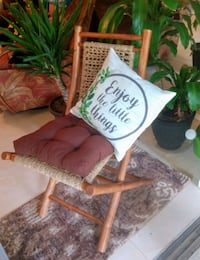 Awesome Bamboo and Hemp Folding Chair with Pillows