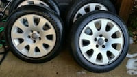Original oem audi rims and tires for sale Chantilly, 20152