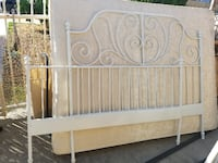 METAL QUEEN SIZED FRAME WITH FOUNDATION AND QUEEN BED COMPLETE Garden Grove