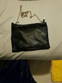 black leather Louis Vuitton wristlet Stone Ridge, 20105