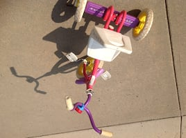 Toddler's white and pink trike