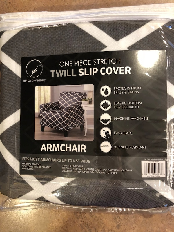 Groovy Grey And White Arm Chair Cover Onthecornerstone Fun Painted Chair Ideas Images Onthecornerstoneorg