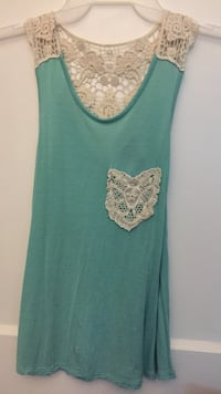 teal and white floral tank top Rocky Mount, 27804