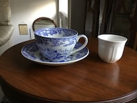 Spode British flowers extra large cup and saucer.   Dumfries, 22025